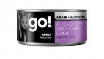 GO! Grain free chicken stew with turkey + duck CF